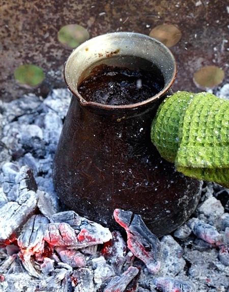 Кофе на углях