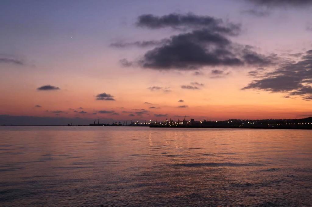 Ноябрьский закат на Азовском побережье