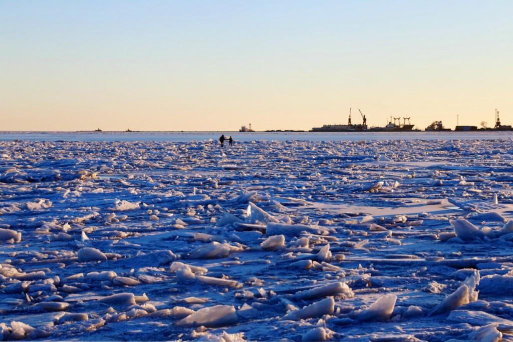 Азовское море зимой